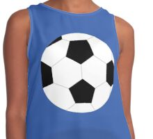 White and Black Soccer Ball Patterned Contrast Tank