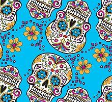 Sugar Skull TEAL by HolidaySwagg