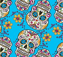 Sugar Skull TEAL by HolidaySwagg
