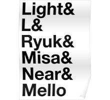 Light&L&Ryuk&Misa&Near&Mello Poster