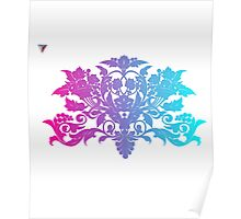 Colorful Ambrosia Baroque T-Shirt by Cyrca Originals  Poster