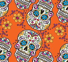 Sugar Skull ORANGE by HolidaySwagg