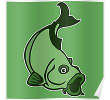 carpe carp fisher Poster