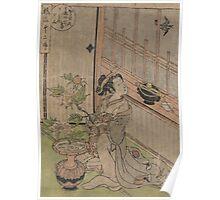 May Cuckoo - Koryusai Isoda - 1772 Poster