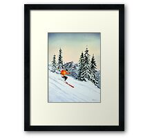 Skiing - The Clear Leader Framed Print