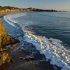 Sonoma Sunset wave and beach by David Galson
