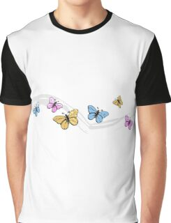 Colorful Butterflies Design Graphic T-Shirt