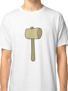 cartoon wooden mallet Classic T-Shirt