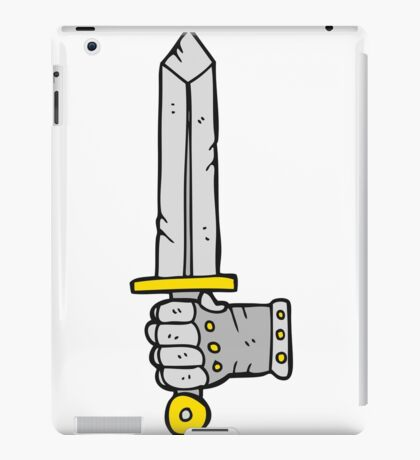 cartoon hand holding sword iPad Case/Skin