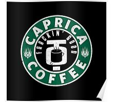 Caprica Coffee - green Poster