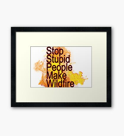 tennessee wildfire Framed Print