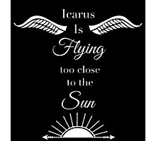 Icarus is Flying Photographic Print