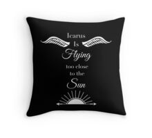 Icarus is Flying Throw Pillow