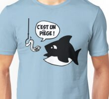 poisson pêcheur humour fun Unisex T-Shirt