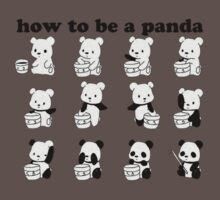How to be a Panda Kids Clothes