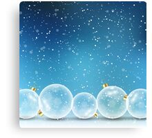 Christmas Balls and Snow Canvas Print