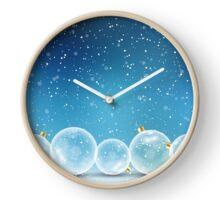 Christmas Balls and Snow Clock