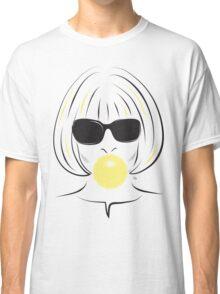 Anna Wintour Bubble Gum Portrait illustration Classic T-Shirt