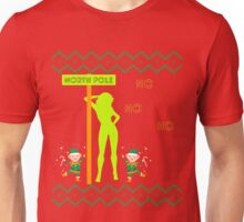 Naughty Ugly Christmas Sweater North Pole Stripper Unisex T-Shirt