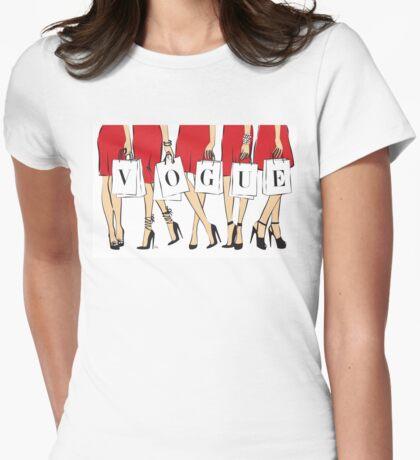 VOGUE shopping Girls Womens Fitted T-Shirt
