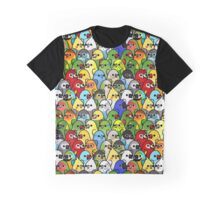 Too Many Birds! Bird Squad 1 Graphic T-Shirt