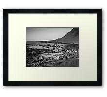 Rocky Bay Black & White Framed Print