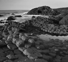 Giants Causeway Black & White by MarcoBell