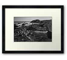 Giants Causeway Black & White Framed Print