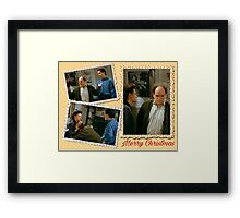 Seinfeld Elaine George Costanza Merry Christmas Framed Print