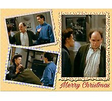 Seinfeld Elaine George Costanza Merry Christmas Photographic Print