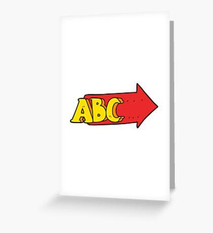 cartoon ABC symbol Greeting Card