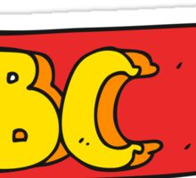 cartoon ABC symbol Sticker