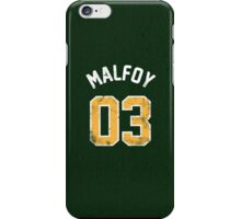 Draco Malfoy - Quidditch Shirt - NO.3 iPhone Case/Skin