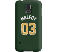 Draco Malfoy - Quidditch Shirt - NO.3 Samsung Galaxy Case/Skin