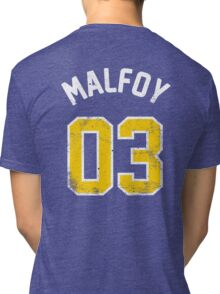 Draco Malfoy - Quidditch Shirt - NO.3 Tri-blend T-Shirt
