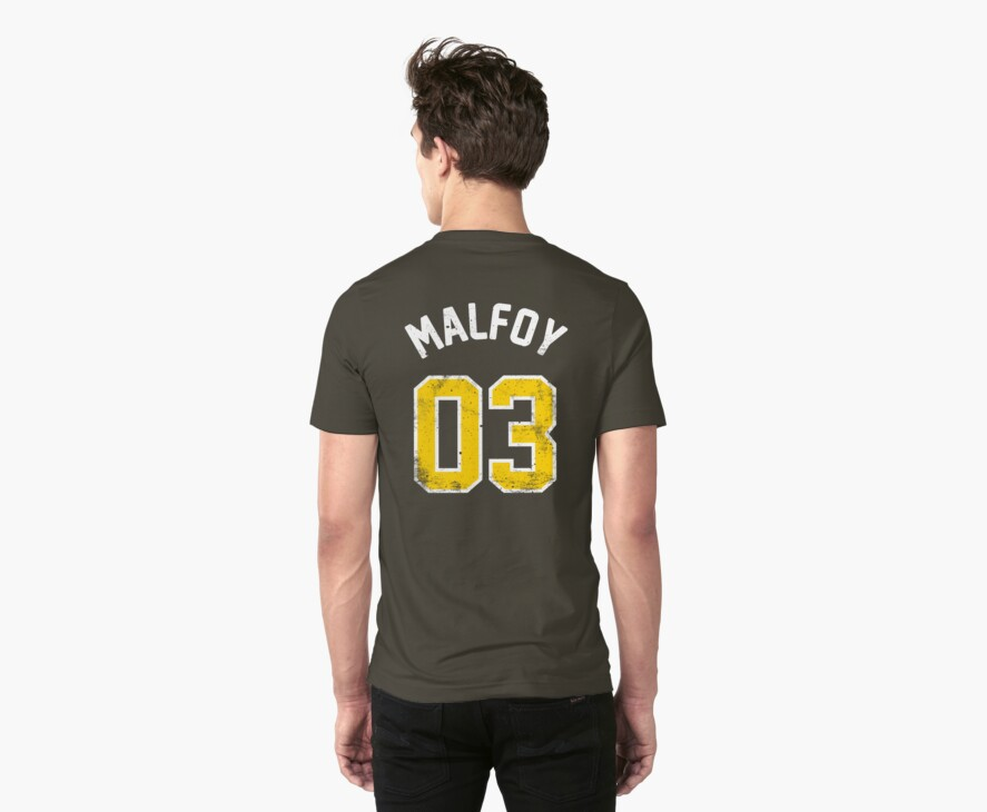 Draco Malfoy - Quidditch Shirt - NO.3 by soulthrow