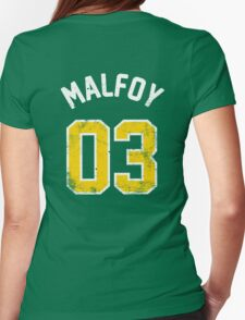 Draco Malfoy - Quidditch Shirt - NO.3 Womens Fitted T-Shirt
