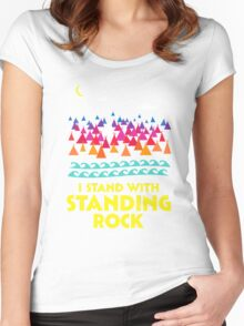 Stand With Standing Rock Shirt Women's Fitted Scoop T-Shirt