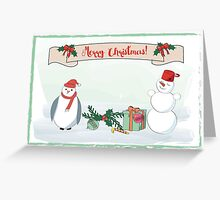 Card with penguin Greeting Card