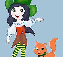 Little PumPkin & the Witch by redqueenself