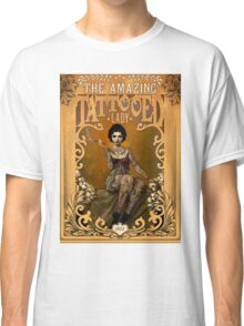 TATTOOED LADY; Vintage Advertising Print Classic T-Shirt