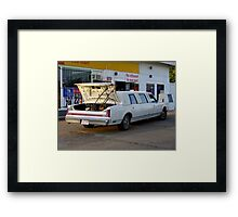 Mowing In Style Framed Print