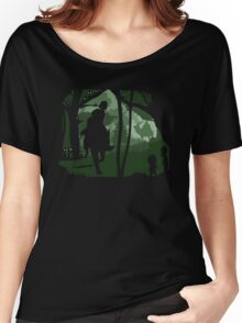 Mononoke, Wolf and Ashitaka in Forest Anime Women's Relaxed Fit T-Shirt