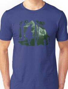 Mononoke, Wolf and Ashitaka in Forest Anime Unisex T-Shirt