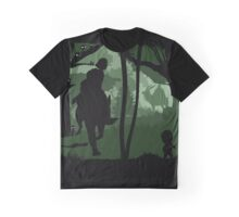 Mononoke, Wolf and Ashitaka in Forest Anime Graphic T-Shirt