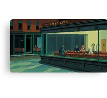 Nighthawks - A Pixel Tribute Canvas Print