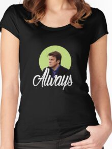 Richard Castle - Always Women's Fitted Scoop T-Shirt