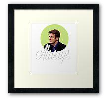 Richard Castle - Always Framed Print