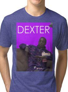dexter - purple Tri-blend T-Shirt