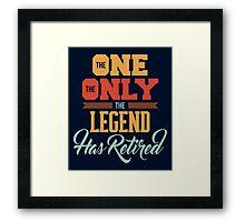 Retirement Framed Print